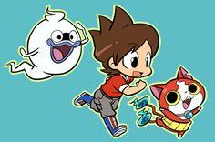 Yo-Kai Watch   Whisper, Nate (Keita), and Jibanyan