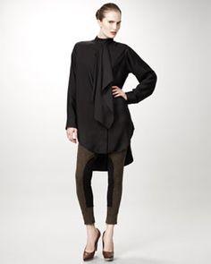 Stella McCartney Ruffle-Front Tunic & Tweed Leggings