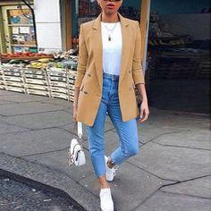 Blazer Outfits Casual, Blazer Outfits For Women, Blazers For Women, Women Blazer, Long Blazer Jacket, Look Blazer, Suit Jacket, Pijamas Women, Plus Size Fall Fashion