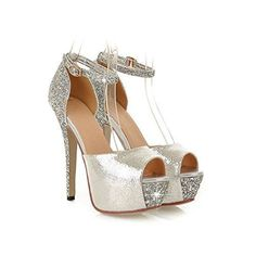Glittering Sexy High Heels Platform Shoes Pumps Womens Fashion Wedding shoes lady Pumps *** Click image for more details.(This is an Amazon affiliate link and I receive a commission for the sales) #weddingshoes