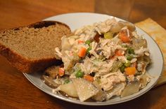Crock Pot Chicken Pot Pie Stew - Stacy Makes Cents not sure if breading ia gluten free but i think im going to make it without crust. It looks amazing!