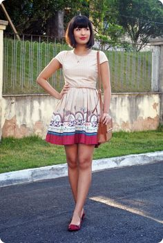 Vestido Antix ♥ Cinto Riachuelo ♥ Bolsa Renner ♥ Melissa Severine