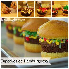 Receta de Cupcakes de Hamburguesas