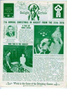 Gaslight Club newsletter, circa 1960 21.5 cm x 28 cm [in box]