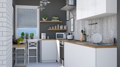 Roomstyler.com - Tiny kitchen Basement, Kitchen, Table, Room, Furniture, Design, Home Decor, Bedroom, Root Cellar