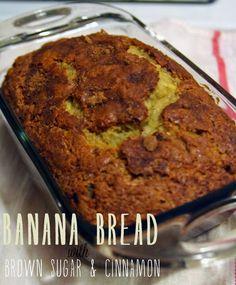 Banana Bread with Brown Sugar and Cinnamon