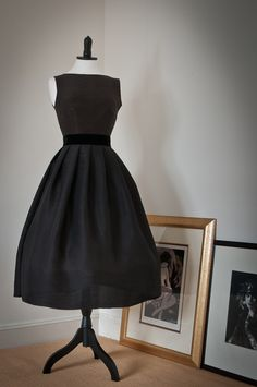 LBD- This dress is made from the finest silk dupioni. Adapted from an original Christian Dior design circa 1955, it consists of a form fitting, silk lin...