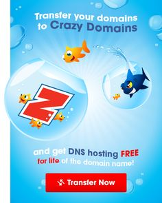 There's a party over here! Transfer your domain over to the sunny side of the street and get free DNS Services for the life of the domain.  Find out more and start your transfer to Crazy Domains here: http://www.crazydomains.com/domain-names/transfer/?promo=A6UMQD17