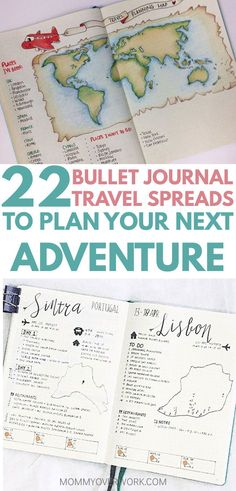 Is your goal to travel? Then you'll love these great BULLET JOURNAL TRAVEL log layout ideas and spreads. Let me take you on a journey from a bucket list wishlist, to an itinerary tracker and map page in your travelers notebook, to saving up the budget, to enjoying your travels, to capturing your memories in a scrapbook, with diary entries and doodles. Get bujo inspiration from these unique and creative travel journal ideas to plan your next getaway. #planningatripchecklisttravellist