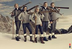 Knitted sweaters from Dale of Norway and cross country Olympians