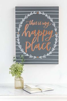 This Is My Happy Place Wall Decor
