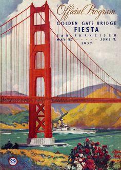 Program for the Golden Gate bridge opening in San Francisco in 1937