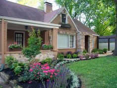 Curb Appeal Ideas: Landscaping Before-and-Afters   Houses   HGTV FrontDoor.  I like how it curves.