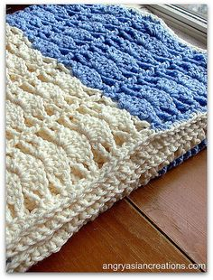 free crochet pattern baby blanket in shell stitch