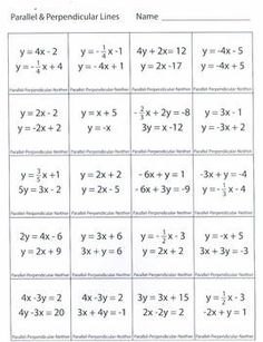 Printables Equations Of Lines Worksheet writing linear equations horizontal and vertical lines this is a multiple choice worksheet the students look at of two different