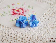 Hydrangea earrings hydrangea studs hydrangea by AlishaVovkJewelry