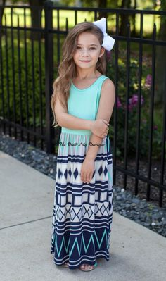 The Pink Lily Boutique - Crushing On Aztec Kids Mint Maxi , $26.00 (http://thepinklilyboutique.com/crushing-on-aztec-kids-mint-maxi/)