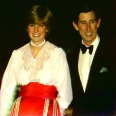 February 24, 1981: Prince Charles & Lady Diana at Clarence house on the…