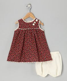 Take a look at this Red Strawberry Dress & Bloomers - Infant & Toddler by Dreaming Kids on #zulily today!