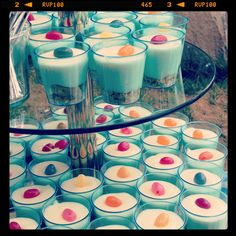 It's not a party w/o cheesecake shooters.
