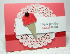 sweet as can be stamp set - poppy ink Birthday Cards, Happy Birthday, Birthday Ideas, Scrapbook Pages, Scrapbooking, Dessert Presentation, Invitation Cards, Invitations, Cake Packaging