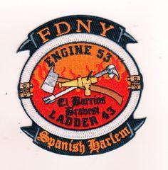 COMPANY FIRE PATCH NEW YORK CITY FDNY ENGINE 53 LADDER 43 SPANISH HARLEM