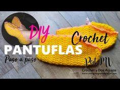 PANTUFLAS Slippers Tejidas a CROCHET Paso a paso Tutorial - YouTube Crochet Crafts, Knit Crochet, Yoga Socks, Slippers, Knitting, Videos, Macrame, Crochet Patterns, Youtube