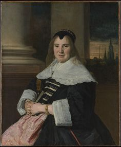 Frans Hals, Portrait of a Woman, ca. 1650, reworked probably 18th century