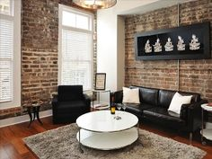Savannah condo rental - Comfortable yet contemporary sitting room overlooking Broughton Street.