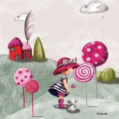 Tableau enfant sur toile 35x35cm lollipop Artmosphere | La Redoute