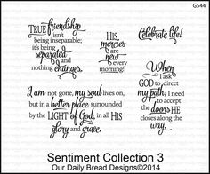 Sentiments+Collection+3 on Addicted to Rubber Stamps!