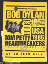 BOB DYLAN & TOM PETTY & HEARTBREAKERS CONCERT 1986 USA True Confessions Pass