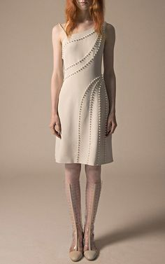 Pearl Embellished Asymmetric Dress by HUISHAN ZHANG for Preorder on Moda Operandi