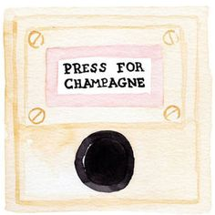 Press For Champagne Watercolor Print #home-decor-art #home-decor-bar