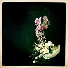Sugar Flower Sculpture | flowers, bowl, stones, mount - ALL SUGAR!