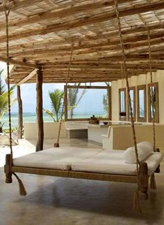 swing bed in paradise