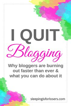 I QUIT BLOGGING! I QUIT SOCIAL MEDIA! I threw in the towel on it all. Well, maybe not entirely but I sure felt like it. Why? BURNOUT. Burnout is so real and it is one of the main reasons bloggers and online influencers give it all up and stop writing on their blogs. So what can you do when you feel like screaming I QUIT!?! Click this pin to find out! (and if you can't click now, make sure you save it for later!) Quitting Social Media, Social Media Tips, Make Money Blogging, How To Make Money, Creative Business, Business Tips, Online Business, Wordpress, I Quit