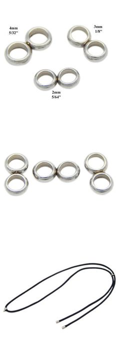 Metals 179269: Surgical Stainless Steel Silver Donut Spacer Bead Slider Double Hole Round Cord -> BUY IT NOW ONLY: $42.99 on eBay!