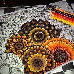 livros de colorir degrade em flores - Pesquisa Google
