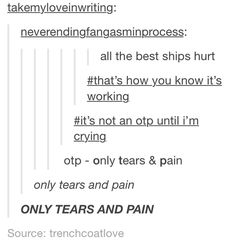 tumblr fandom funny - Google Search>>>Oh The Pain