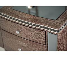 Hollywood Swank Vanity & Mirror in Graphite - Vanities - Bedroom   Mor Furniture for Less