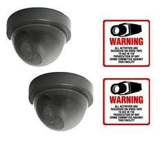 """VAS #2704 Mini Dome Dummy Camera w Motion Activated Blinking LED w (2) #204 Decal by VAS First Response. $13.75. Product Description: #2704 Now you can deter robbery, theft, and vandalism without the high cost of a real security camera. The 70 Series is an actual dome surveillance camera that has been modified into a """"dummy"""" or fake security camera. It is designed to imitate the small, high tech security cameras on the market today. When placed in your home or bus..."""