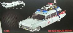 1/18 '59 Cadillac Ghostbusters Ecto-1 by Mattel Inc.. $136.98. Not Suitable for Children Under 8 Years Old. Beautifully Crafted and Exquisitely Detailed Interior/Exterior. Openable Doors, Hood and Trunk. 1:18 Die Cast Metal Car with Plastic Parts. Official Licensed Product. The Ecto1 is the legendary vehicle that the Ghostbusters used to travel throughout the city busting ghosts. The vehicle used for the Ecto1 was a 1959 Cadillac professional ambulance, built by the MillerMeteo...