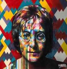 "Brazilian Street Artist Eduardo Kobra - Debut solo show ""Peace"" at Dorothy Circus Gallery, Rome on May 2014 - NOT Street Art Kobra Street Art, Street Mural, Street Art Graffiti, John Lennon, Arte Pop, Art Banksy, Pop Art, Urbane Kunst, Beatles Art"