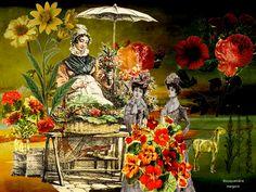 ©Margarita García Alonso -Oficios perdidos, forgotten trades in Europe, Le petits métiers disparus, Creaciones digitales, collages A partir de los grabados de Vernet.