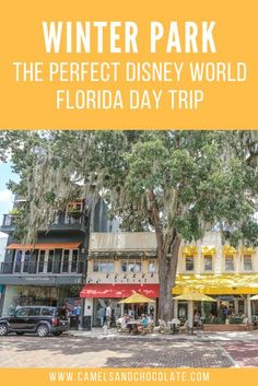 If you are planning a visit to Disney World in Florida and are wondering where else to go in the area - then check out Winter Park! Winter Park reminded me of a perfect mix of Savannah with its dramatic greenery and draping Spanish moss and Santa Barbara with its pedestrian-friendly streets and endless shopping. Find out everything you need to know about visiting Winter Park in Florida on a day trip. | Kristin Luna #winterpark #florida #orlandodaytrip Usa Travel Guide, Travel Usa, Travel Tips, Travel Destinations, Budget Travel, Travel Guides, Disney World Florida, Florida Travel, California Travel