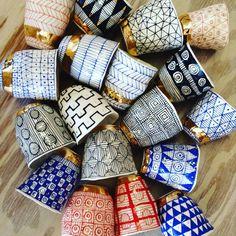 Gorgeous ceramic tumblers from Suzanne Sullivan Ceramics in NYC.