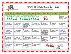 Elf On The Shelf Calendar 2013 | realhousewifehouston