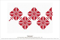Semne Cusute Beading Patterns, Knitting Patterns, Crochet Patterns, Knitting Charts, Embroidery Motifs, Cross Stitch Embroidery, Simple Cross Stitch, Beautiful Patterns, Pixel Art