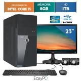 "Computador EasyPC Intel Core I5 8GB 1TB Monitor 23"" LG 23MP55 HQ -"